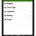 Users can search for trails in database with guided search