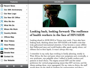 IntraHealth iPad app