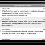 iPhone final beta Twitter view